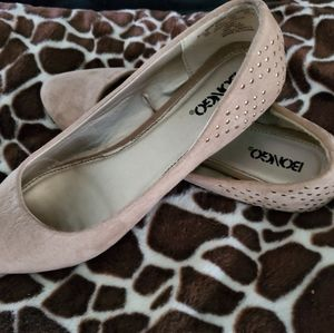 Bongo Camille Ballet Flat in Tan with Gold Studs